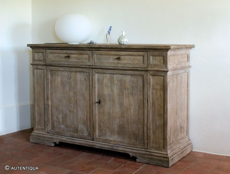 Custom Made Sideboard Raw Wood Patina Autentiqua Firenze